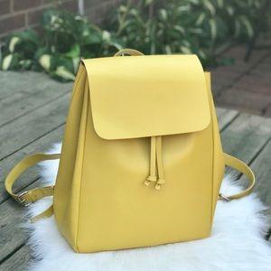 Zara Mustard leather backpack